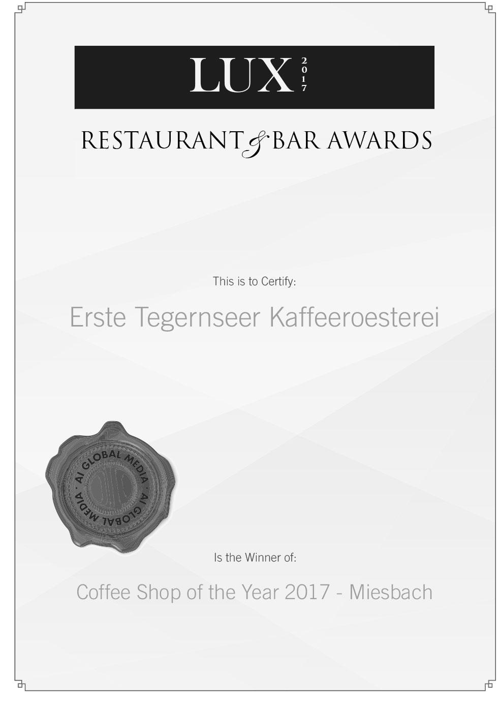 RE170018 Certificate