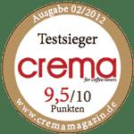 crema-testsieger-aufkleber