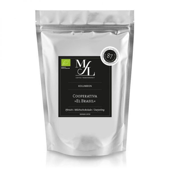 Kaffeebohnen-Kolumbien-Bocanegra-El-Brasil-BIO-vorne