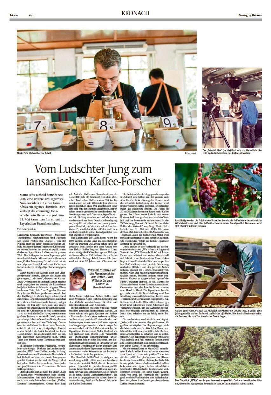 Vom Ludschter Jung zum tansanischen Kaffee-Forscher