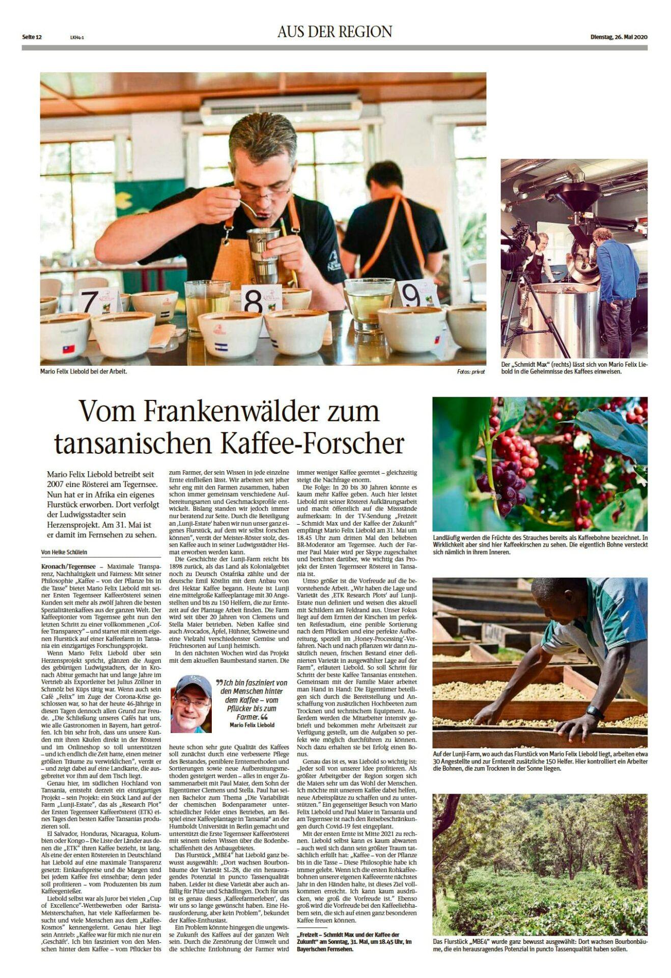 Vom Frankenwälder zum tansanischen Kaffee-Forscher