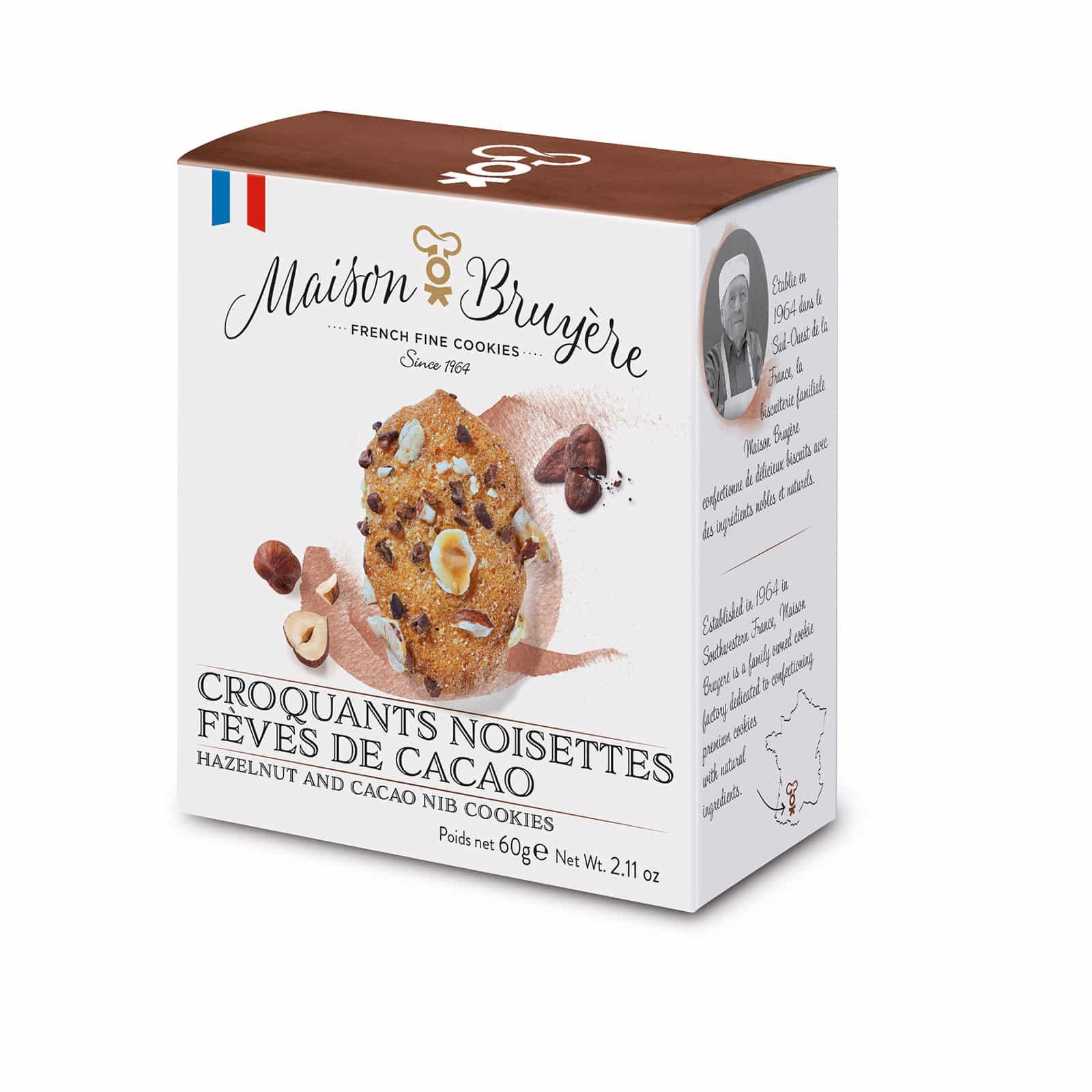 Knusprige Kekse mit Haselnüssen und Kakaobohnen